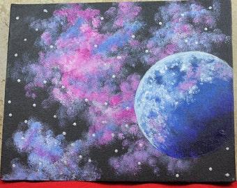 """Glow in the Dark Painting: """"Nebula"""""""