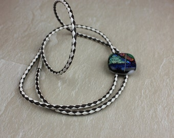 Fused Glass Bolo Tie