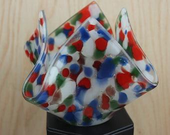 Fused Glass Decorative Vase