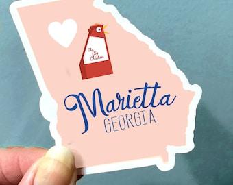 Marietta Georgia Stickers Big Chicken Marietta Square