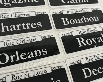 New Orleans Street Signs Decoration French Quarter Canal Saints Party Deco Custom Wedding