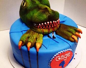 Edible T Rex Cake Topper