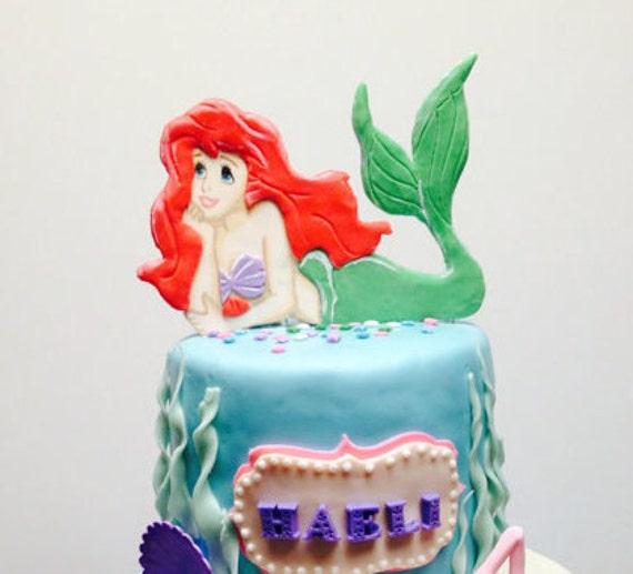 Little Mermaid Ariel Cake Topper Etsy