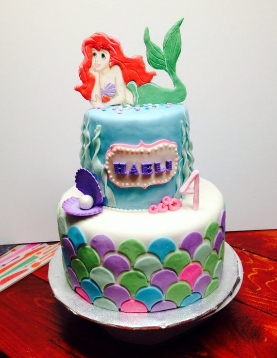 mermaid cake topper mermaid cake topper 5834
