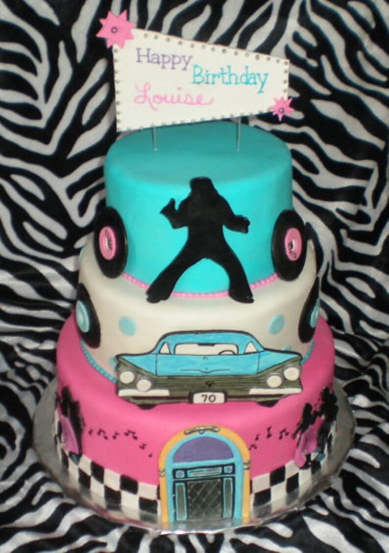50s Theme Cake Decorating Kit
