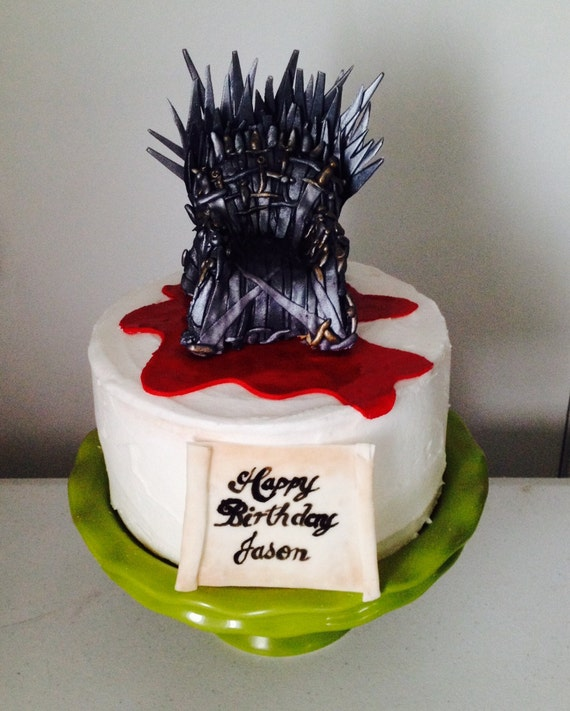 Game Of Thrones Edible Iron Throne Cake Topper
