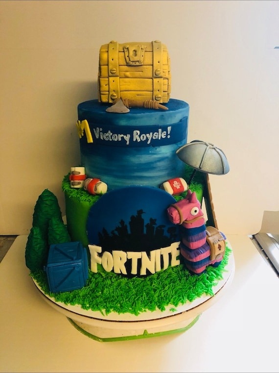 Fondant Fortnite Cake Kit Etsy