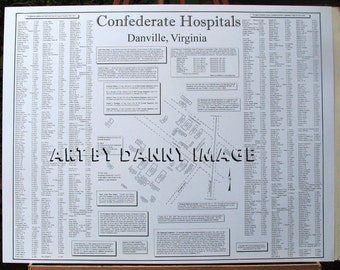 Confederate Hospitals in Danville Virginia POSTER 22x17 inches