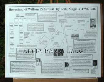 Homestead of William Ricketts at Dry Fork Virginia POSTER 22x17 inches