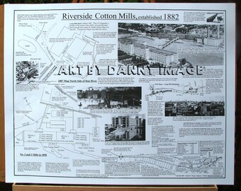 Riverside Cotton Mills POSTER Danville Virginia 22x17 inches