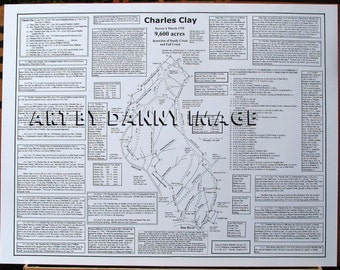 CHARLES CLAY Poster Danville Virginia Area 22x17 inches