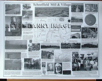 Schoolfield Mill & Village POSTER Danville Virginia 22x17 inches