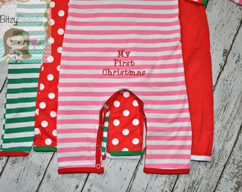 My First Christmas - ADD ON ONLY - Christmas Pajama -- Girls - Boys