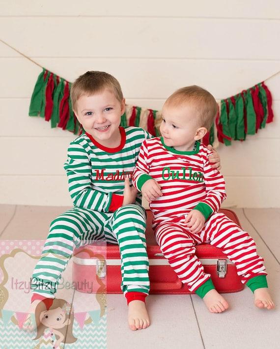 Family Christmas Pajamas With Baby.Embroidered Christmas Pajamas Family Christmas Pajamas Matching Christmas Pajamas Girls And Boys Pajamas