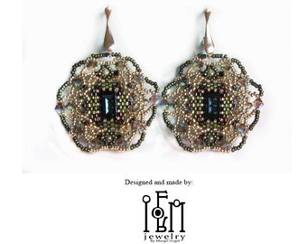 Beaded Earring Tutorial - The Witch's Hut Earring
