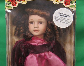 """Collectors Choice Limited Edition Fine Bisque   """"Lil Lady""""  Porcelain Doll"""