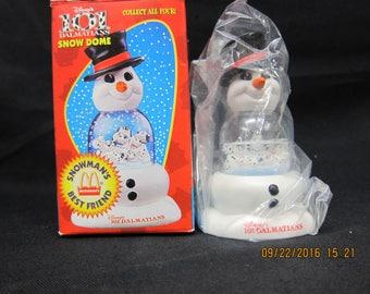 McDonald's/Disney 101 Dalmations - Snowman's Best Friend Snow Dome