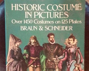Historic Costume in Pictures Fashion History Costume Book 1975 Softback