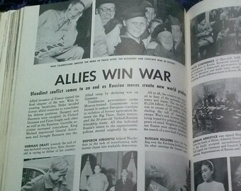 """1960s Year Book Historical Photographic Annual """"The Turbulent 20th Century"""" 1961 World History International News 1900 to 1960 Book."""