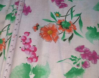 Floral Cotton Sewing Supply John Kaldor English Fabric Summer Flowers Pattern Screen Print Material 115x40 inches