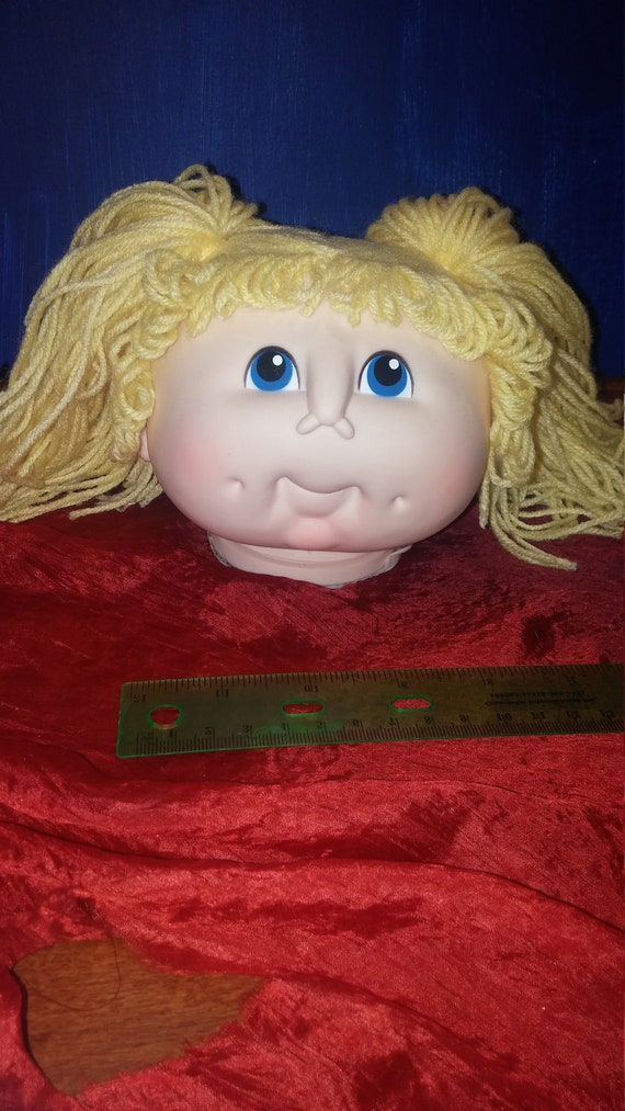 ORIGINAL DOLL BABY HEAD Cabbage Patch MARTHA NELSON THOMAS Blue Eyes Blonde 1984