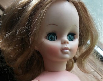 1966 Effanbee Doll Plastic Vinyl Vintage Blonde Doll 14 Inches