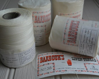 Large spool of 35/3 cord Barbour's Irish Linen thread