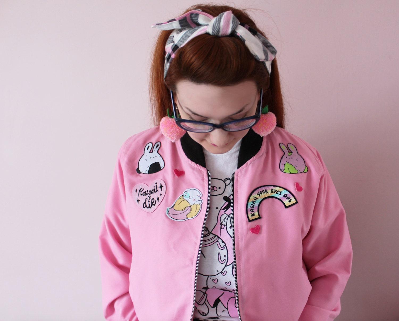 Custom Frilly Pops Patch Jacket Kawaii Harajuku Style | Etsy