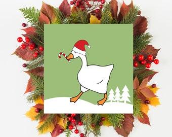Goose Christmas Card, Goose Card, Honk Christmas card, Goose Game Christmas