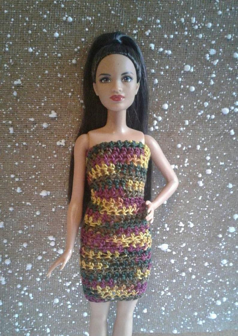 Vestito Di Bambola Barbie Alluncinetto Alluncinetto Etsy