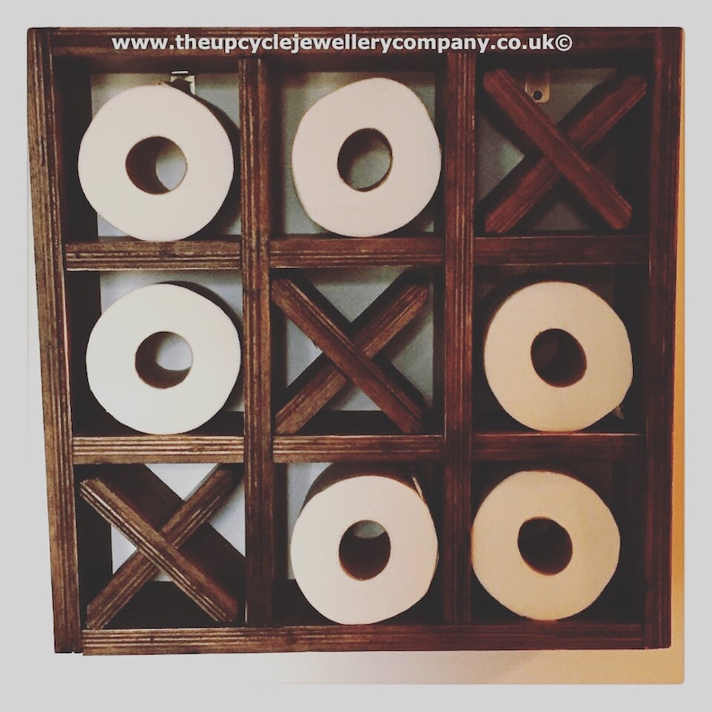 d369e9a5e Upcycled Noughts and Crosses Toilet Roll Holder