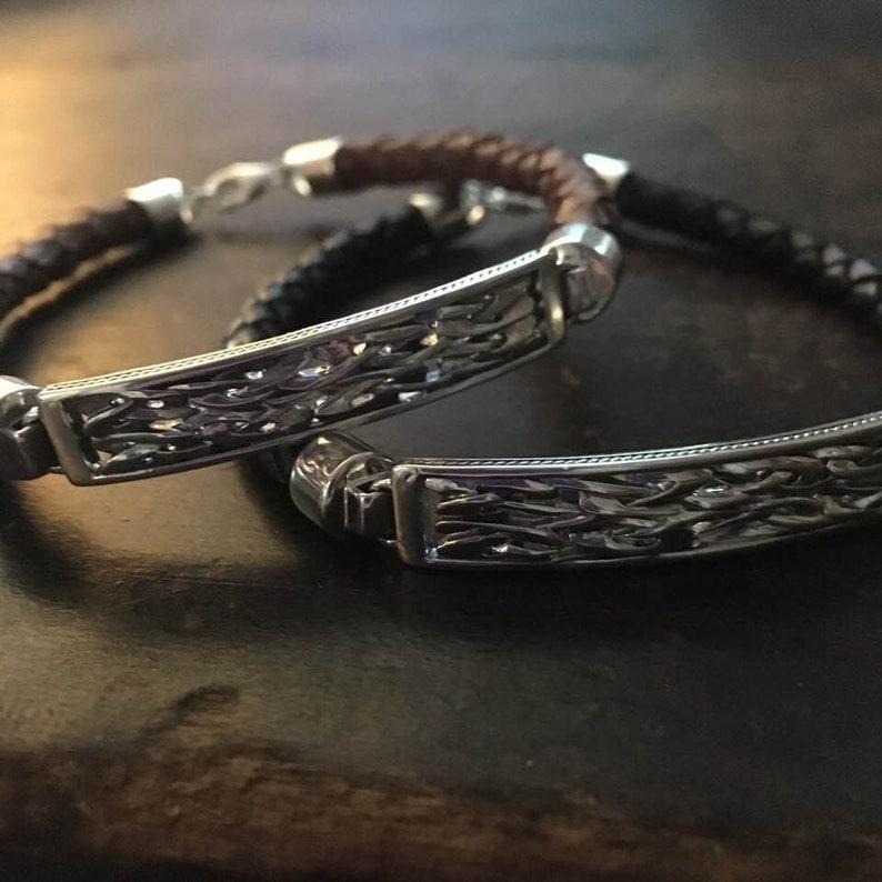 grande vente ebbf6 748ce Bracelet en cuir pour homme celtique Tag