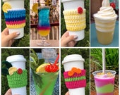 Drinks of Disney Inspired cup cozies - dole whip, mint julep, night blossom, funwheel cocktail