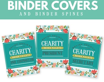 LDS Relief Society Printable Binder Covers