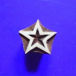Small Star Wood Stamp Hand Carved Fabric Textile Indian Print Block (SM4)