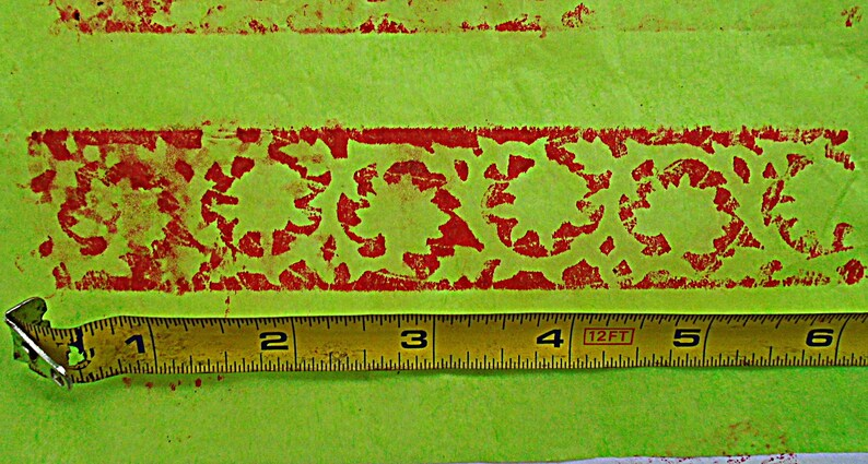 Floral Antique Vintage Wood Texile Clay Border Stamp Hand Carved Old Indian Print Block V166