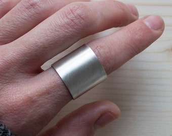Wide ring, thick minimalist ring, sterling silver ring, geometric ring, contemporary ring, minimal design, moloko plus jewelry