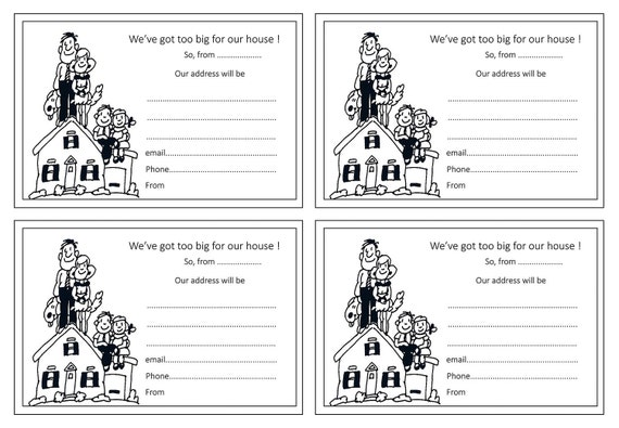 Moving house change of address notice blank cards template 49p etsy image 0 maxwellsz