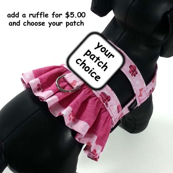 Pink Paws Service Dog Harness With Optional Ruffle From Udogu Etsy