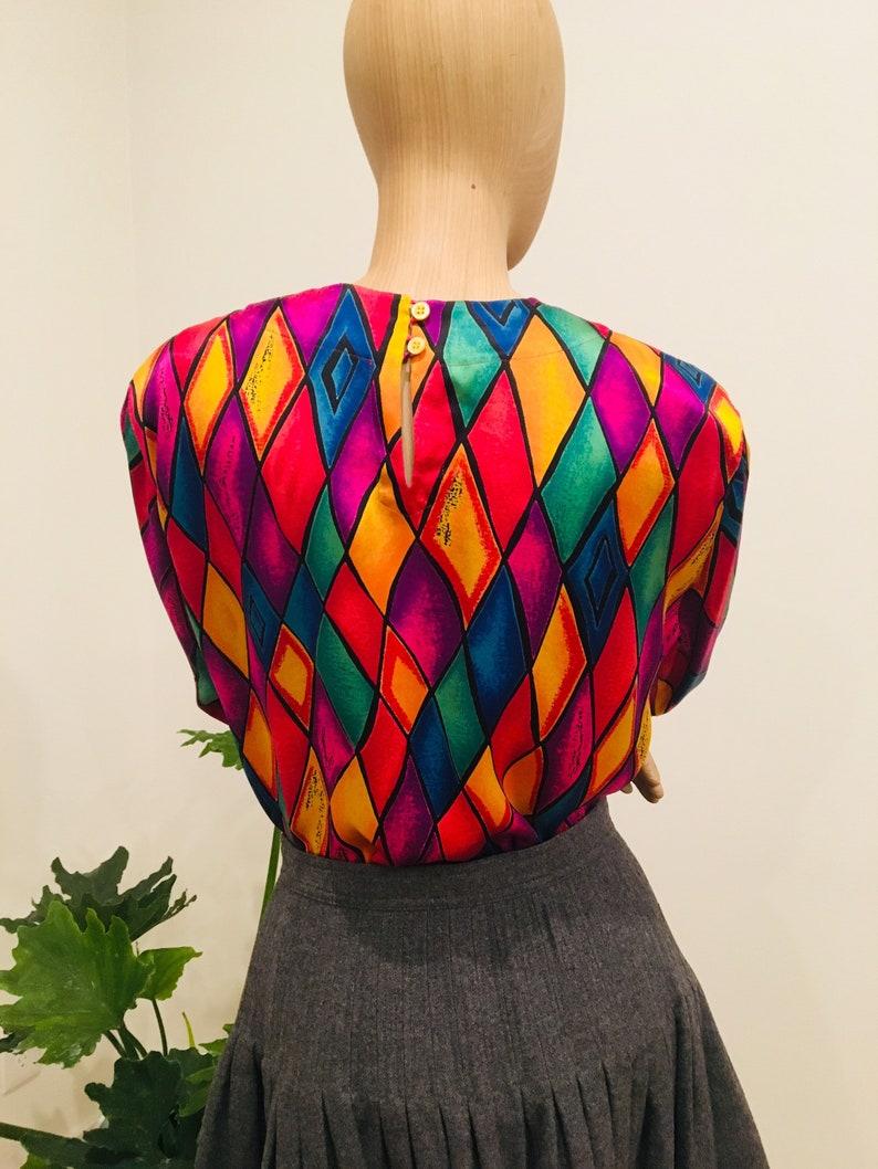 Escada 90s silk blouse .