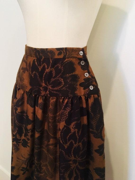 Vintage Pierre Cardin Skirt / Vintage Midi / Wool