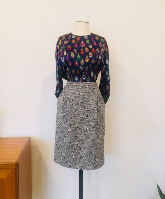 Valentino Skirt / Vintage Valentino  / Boucle Skir