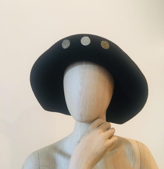 Vintage Floppy Hat /Vintage Wool Hat / Annie Hall