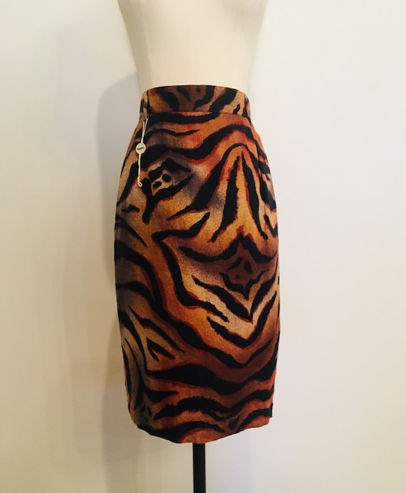 BYBLOS / Vintage Byblos Animal Print Skirt / Anima