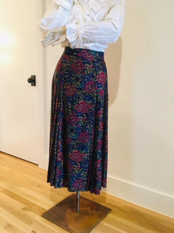 Vintage Laurel by Escada Midi Wrap Around Skirt /