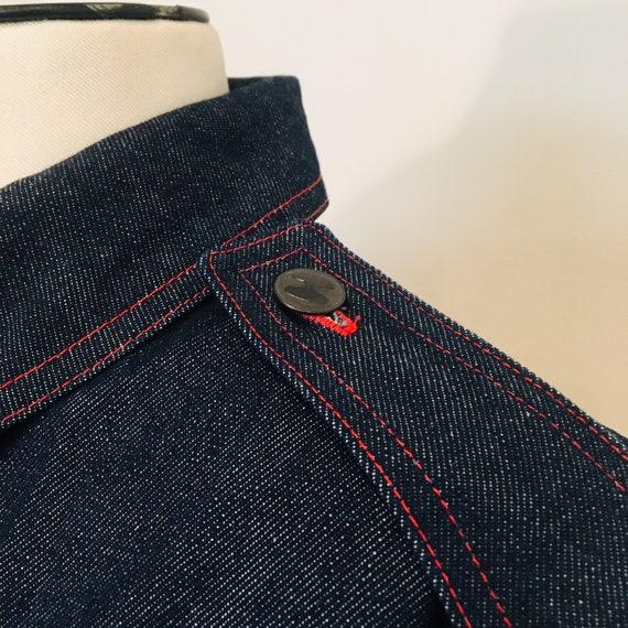 Halston denim bomber jacket / Vintage Jean Jacket… - image 3