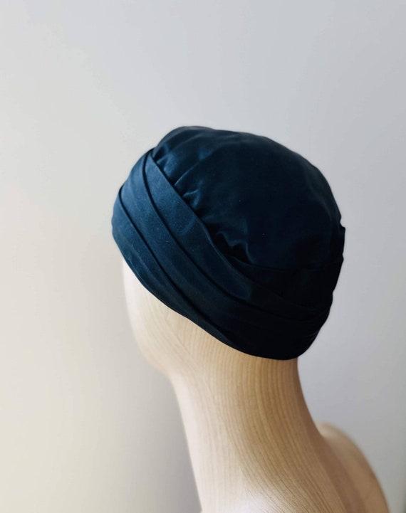 HEIM 50s Black Satin Turban For Neiman Marcus / V… - image 4