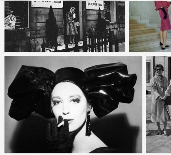 HEIM 50s Black Satin Turban For Neiman Marcus / V… - image 7
