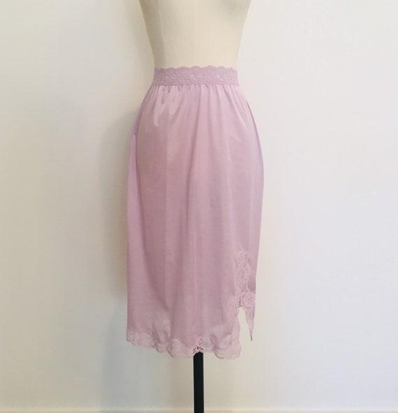 Vintage slip skirt / Nylon Half  Slip / Blush Slip