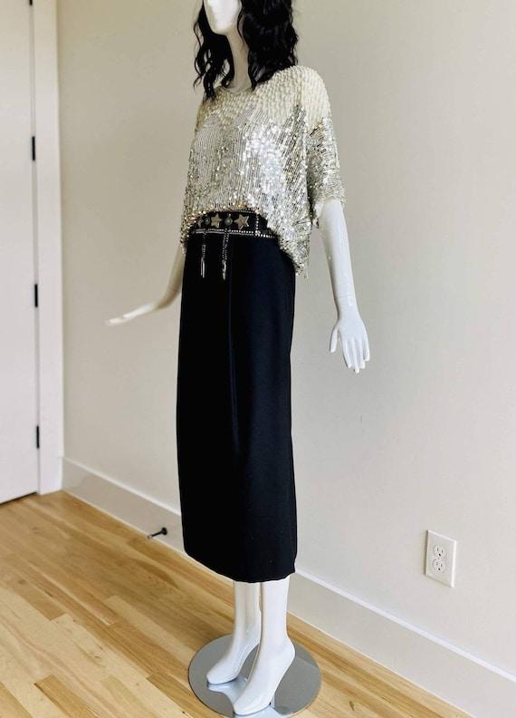 90s Mark SHALE Wool Midi Skirt / Minimalist Skirt